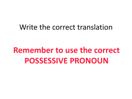 Write the correct translation
