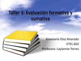 Taller 3: Evaluación formativa y sumativa