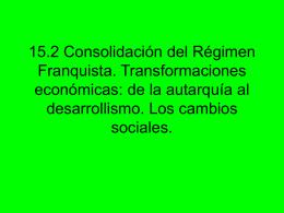 15.2 Consolidación del Régimen Franquista.