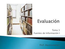 EVALUACIÓN DE BASES DE DATOS AUTOMATIZADAS