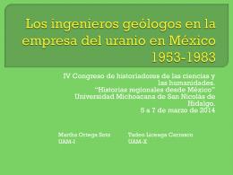 Los ingenieros geólogos en la empresa del uranio