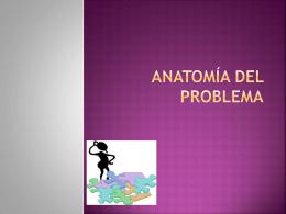 ANATOMÍA DEL PROBLEMA