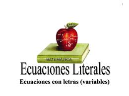 Ecuaciones Literales - Programa de Matemáticas -