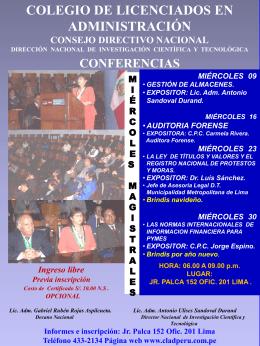 Diapositiva 1 - CLADPERU | COLEGIO DE LICENCIADOS