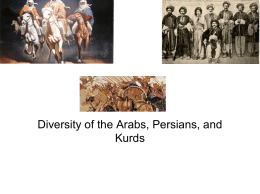 Diversity of the Arabs, Persians, and Kurds