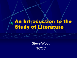 An Introduction to the Study of Literature -