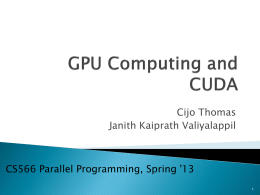 GPU Computing and CUDA - University of Illinois at