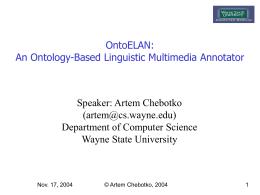 IEEE MSE2004, Artem Chebotko