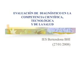 COMPETENCIA CIENTÍFICA, TECNOLÓGICA Y DE LA SALUD