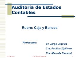 BANCOS - Universidad Gastón Dachary