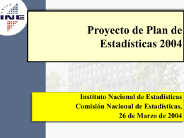 Plan de Estadísticas 2004
