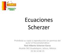 Sumas Scherzer - Bienvenidos a la Página de