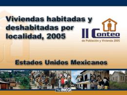 II Conteo de Población y Vivienda 2005, Síntesis