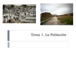 Tema 1. La Población