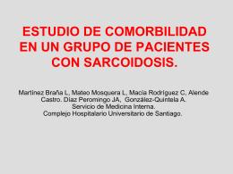 ESTUDIO DE COMORBILIDAD EN UN GRUPO DE PACIENTES