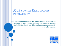 ¿Qué son la Elecciones Primarias?