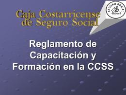 Reglamento de Capacitación y Formación en la CCSS