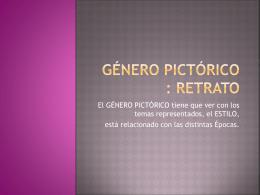 Género Pictórico : RETRATO