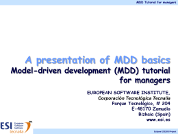 Awareness Model-driven development (MDD) tutorial