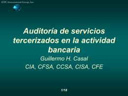 Auditoría de servicios tercerizados en la