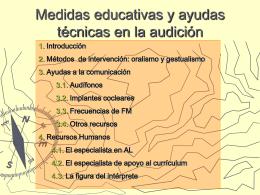 Medidas educativas y ayudas técnicas en la