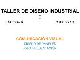 TALLER DE DISEÑO INDUSTRIAL V CÁTEDRA B