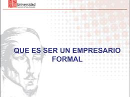 Taller de Formalización Empresarial
