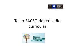Taller FACSO de rediseño curricular