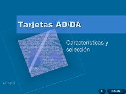 Tarjetas AD/DA