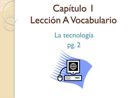 Capítulo 1 Lección A Vocabulario