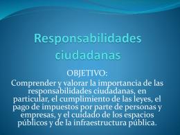 Capítulo 2: Tema 1 Responsabilidades ciudadanas