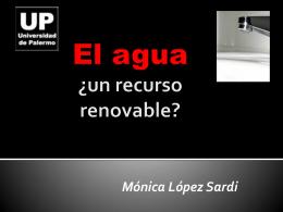 UP El agua ¿un recurso renovable?