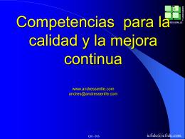 Competencias y rediseño de procesos para la