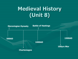 Medieval History (Unit 8)