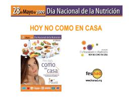 Día Nacional de la Nutrición 2009 28 de mayo