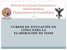 División de Ciencias Económicas y Administrativas