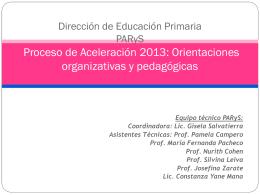 D Aspectos Organizativos del Proceso de