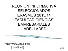 REUNIÓN INFORMATIVA SELECCIONADOS FACULTAD