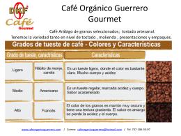 Café Orgánico Guerrero Gourmet