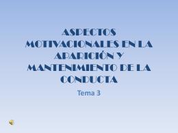 APECTOS MOTIVACIONALES EN LA APARICIÓN Y