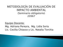 METODOLOGÍA DE EVALUACIÓN DE IMPACTO AMBIENTAL
