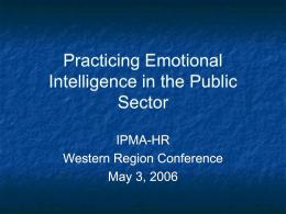 Emotional Intelligence - WRIPMA-HR