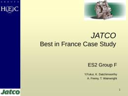 JATCO - HEC Paris