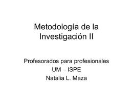 Metodología de la Investigación II