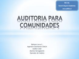 AUDITORIA PARA COMUNIDADES