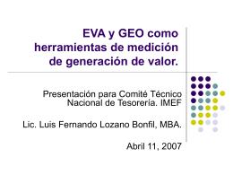 EVA y GEO como herramientas de medición de