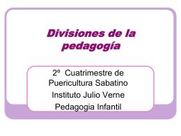 Divisiones de la pedagogía