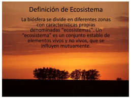 Definición de Ecosistema