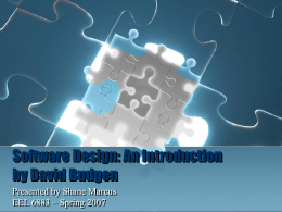 Software Design: An Introduction by David Budgen