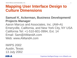 Mapping User Interface Design to Culture